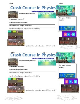 Crash Course in Physics 42 Special Relativity