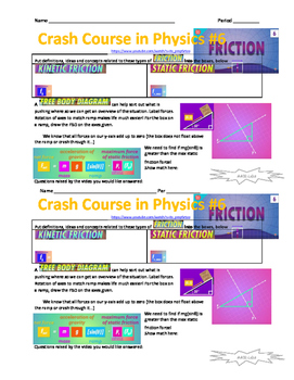 Crash Course in Physics 6 - Friction