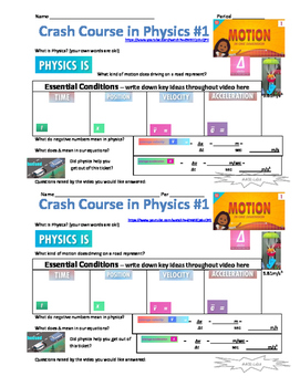Crash Course in Physics Video Guide Pack 1 Episodes 1-5
