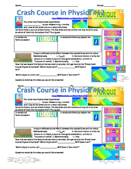 Crash Course in Physics Video Guide Pack 3 Episodes 11-15