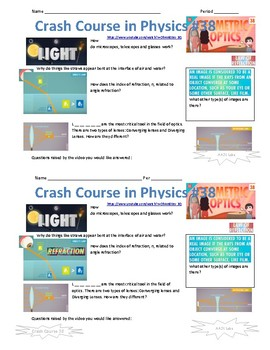 Crash Course in Physics Video Guide Pack 8 Episodes 36-40
