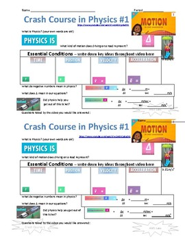 Crash Course in Physics Video Guides for ALL 46 Episodes