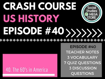 Crash Course the 1960's in America Ep. 40