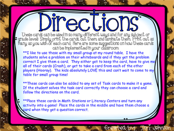 Small Group Game Centers Activity