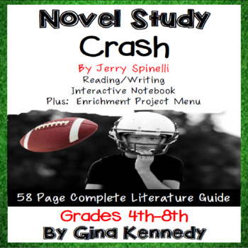 Crash Novel Study & Enrichment Project Menu