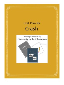 Crash Novel Unit Plus Grammar