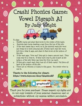 Crash! Phonics Game for Vowel Digraph AI
