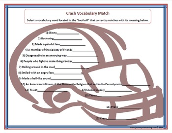Crash Vocabulary Fun
