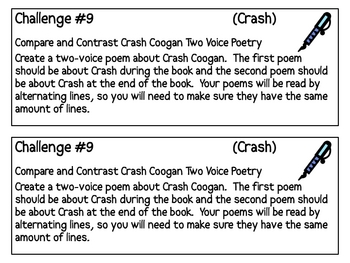Crash, by J. Spinelli, Project Challenges