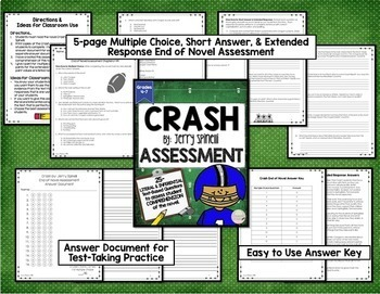 Crash by Jerry Spinelli BUNDLE CCSS Aligned