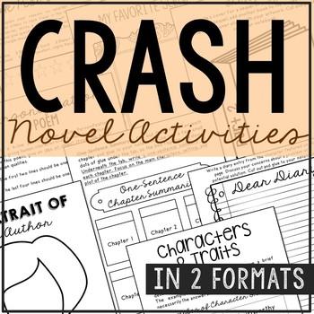 Crash Interactive Notebook Novel Unit Study Activities, Book Report Project