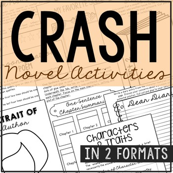 Crash by Jerry Spinelli Novel Study Unit Activities, In 2 Formats