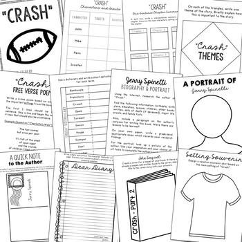 CRASH Novel Study Unit Activities Creative Book Report