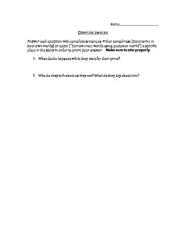 Crash by Jerry Spinelli chapter 12 questions