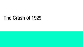 Crash of 1929 PPT