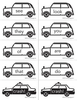 Crash sight words game
