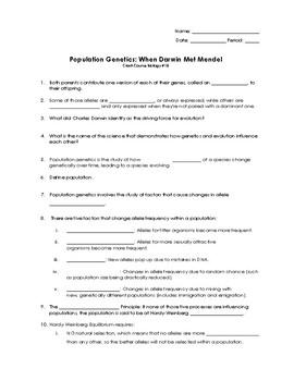 CrashCourse Biology #18 Population Genetics