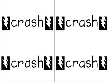 Crash/Hooray Sight Word Card Game Unit 3 Pearson
