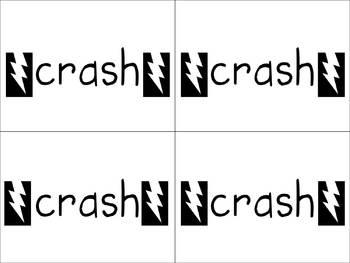 Crash/Hooray Sight Word Card Game Unit 4 Pearson