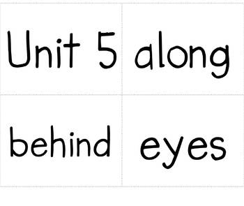 Crash/Hooray Sight Word Card Game Unit 5 Pearson