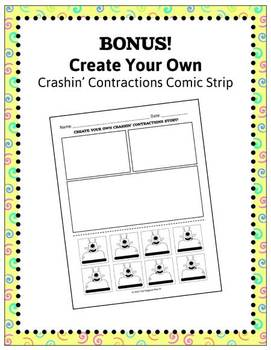 Crashin' Contractions Word Work Bundle {Will & Not, Have & Would, Are & Had, 's}