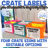 Crate Labels for Classroom Organization