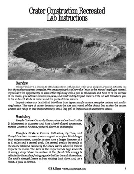 Crater Construction Recreated (Geology)