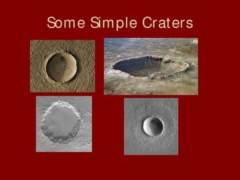 Crater Morphology (Moon Rocks Basalt)