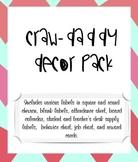 Crawdaddy Themed Decor Pack