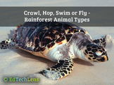 Crawl, Hop, Swim or Fly - Rainforest Animal Types PDF