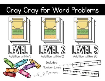 Cray Cray for Word Problems (Math Extensions - 1.OA.2)