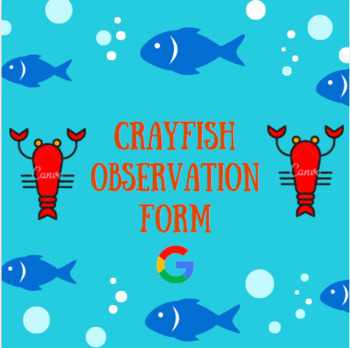 Crayfish Observation Form