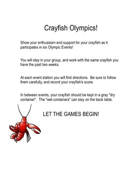 Crayfish Olympics PDF