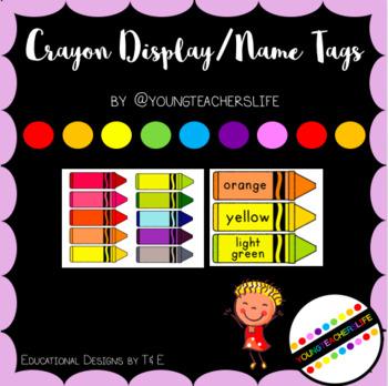 Crayon posters/clip art