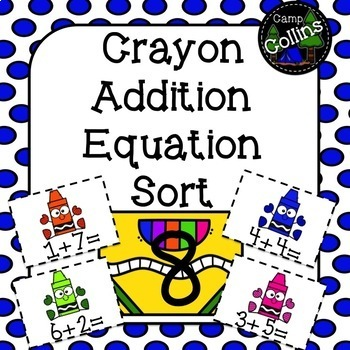 Crayon Addition Equation Sort