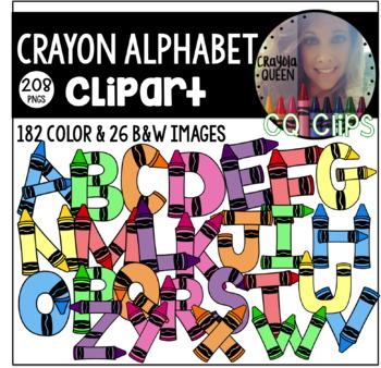 Crayon Alphabet Clipart