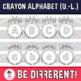 Crayon Alphabet Clipart (Upper-Lower)