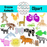 Crayon Animals Clipart