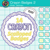 Crayon Badges Clip Art {Labels & Frames for Worksheets & Resources} 2