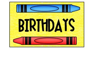 Crayon Birthday Posters