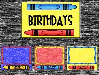 Crayon Birthday Posters