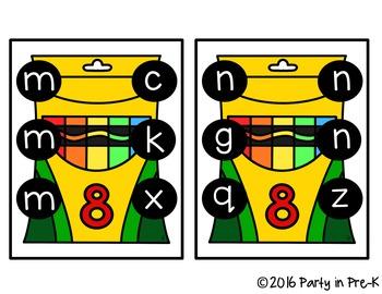 Crayon Box ABC Clip It Cards-3 Versions