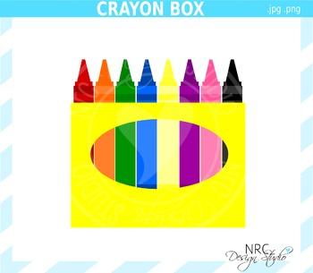 Crayon Box Clip Art - Commercial Use Clipart