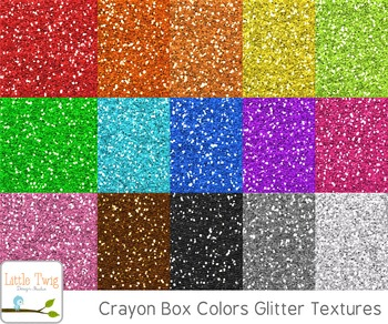 Crayon Box Colors Glitter Digital Papers