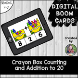 Counting and Addition to 20, Digital BOOM Cards Crayon Box
