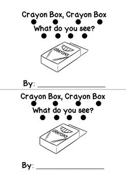 Crayon Box Crayon Box Emergent Reader