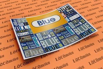 Crayon Box Display Case: Blue