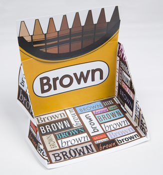 Crayon Box Display Case: Brown