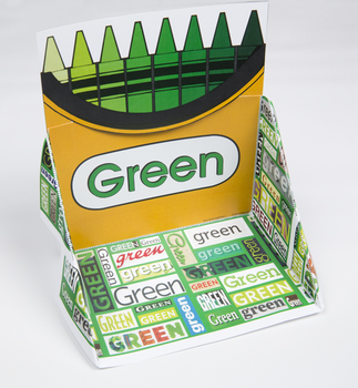 Crayon Box Display Case: Green