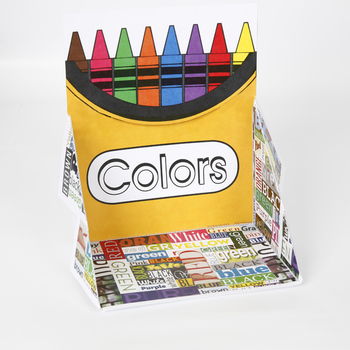 Crayon Box Display Case: Mixed Colors